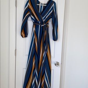Striped maxi with belt